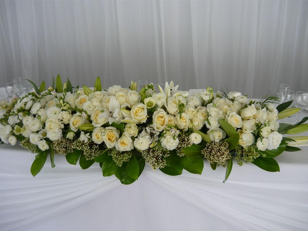 White Table Arrangement