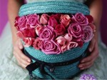 Roses in basket box